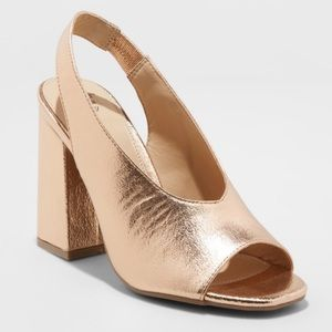a new day Shoes - //A NEW DAY// Rose Gold Slingback Heel